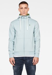 G-Star - 2-TONE HOODED ZIP THROUGH - Huvtröja med dragkedja - deep sky - 0