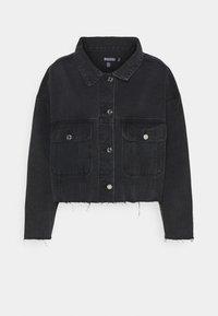 Missguided - PLEAT BACK OVERSIZED 80S JACKET - Denim jacket - black - 5