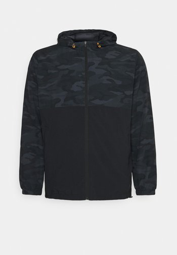 ACTIVE CAMO PRINT JACKET - Summer jacket - black