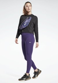 Reebok - LUX SPEEDWICK LEGGINGS - Leggings - purple - 1