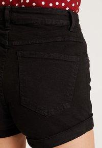 Cotton On - HIGH RISE CLASSIC STRETCH - Szorty jeansowe - black - 3