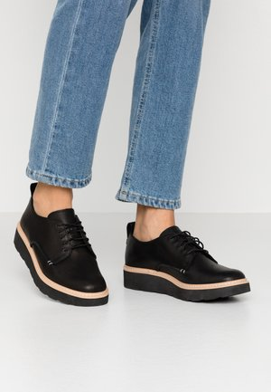TRACE WALK - Lace-ups - black