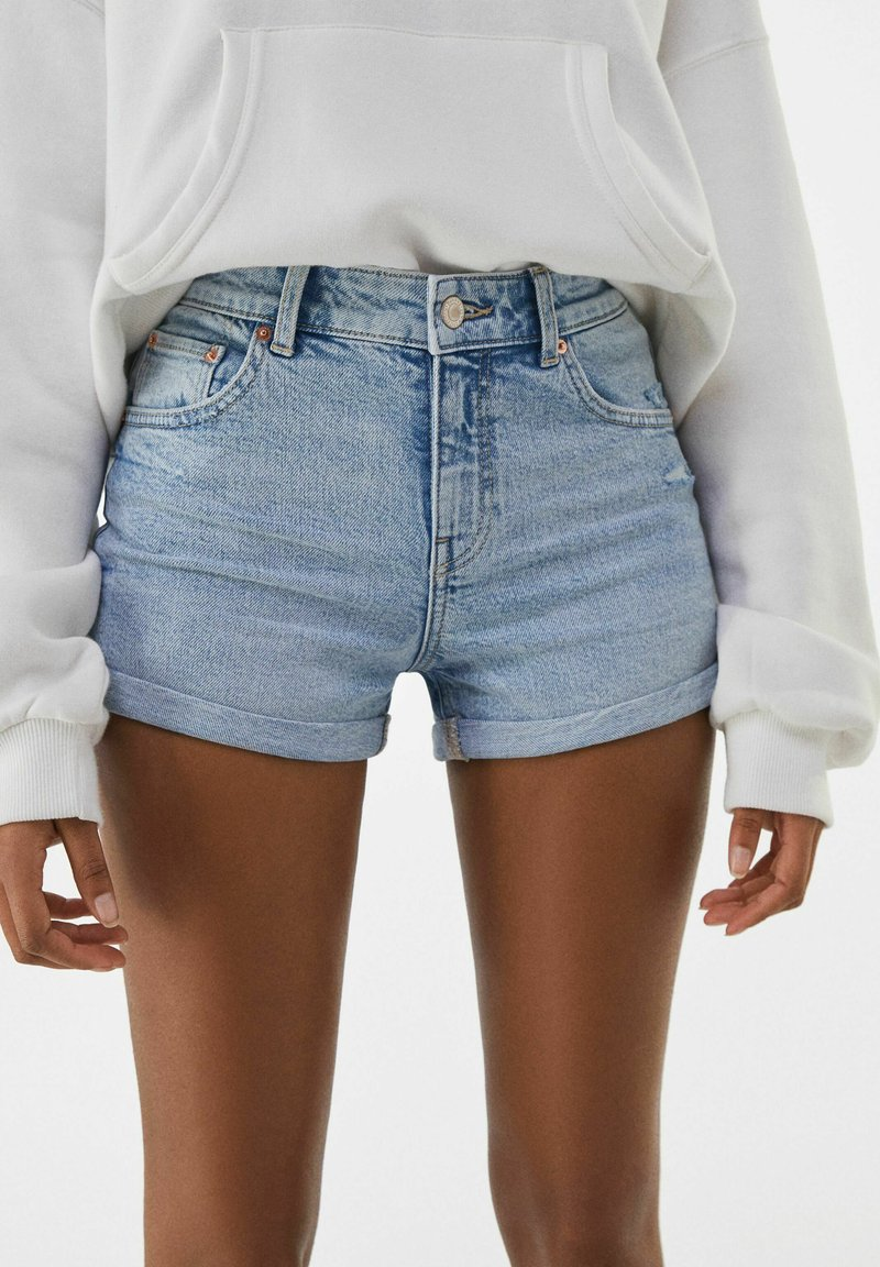 Bershka - Denim shorts - blue denim
