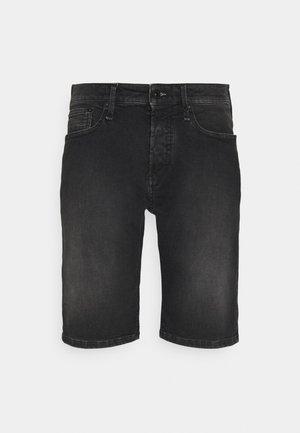 RAZOR - Denim shorts - black