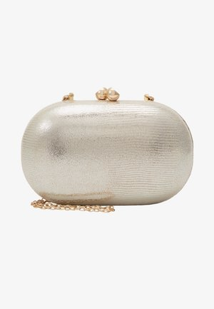 ROUNDED SNAKE BOX CLUTCH - Clutch - gold