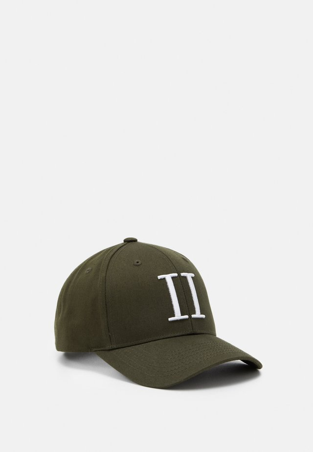 BASEBALL CAP - Cap - dark green/white