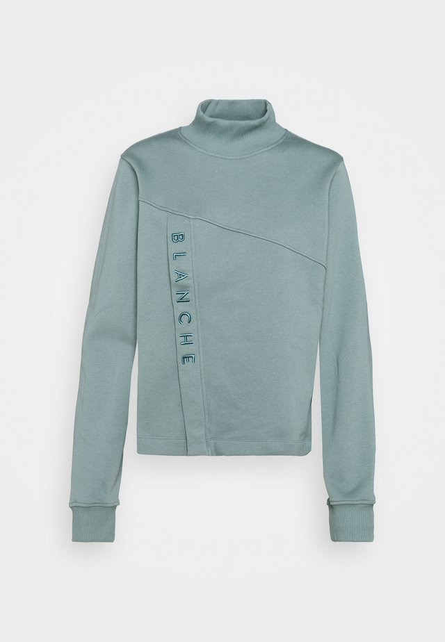 HELLA ZIP  - Sweatshirt - sage green