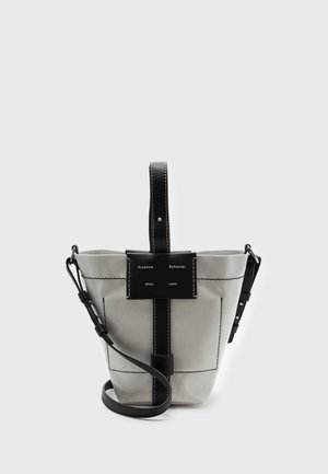 SMALL COATED CANVAS BUCKET BAG - Across body bag - off white