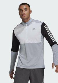 adidas Performance - OWN THE RUN RUNNING 1/2 ZIP SWEATSHIRT - Sweatshirt - grey - 0