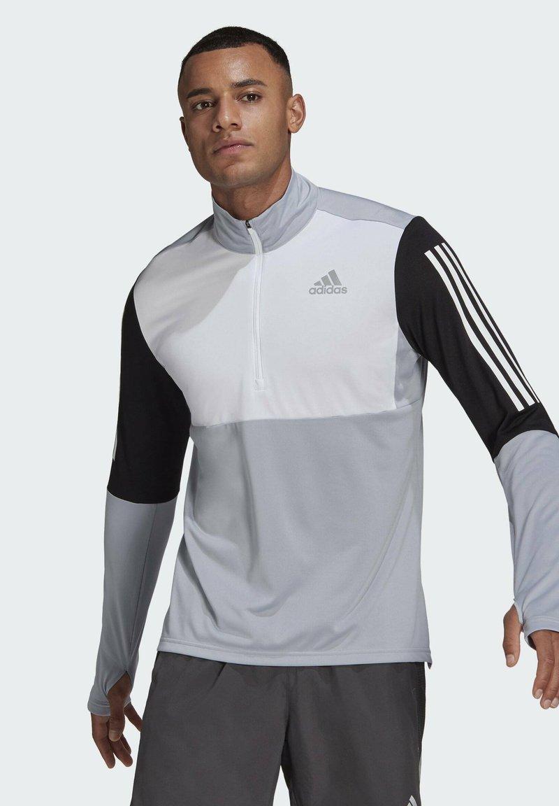 adidas Performance - OWN THE RUN RUNNING 1/2 ZIP SWEATSHIRT - Sweatshirt - grey