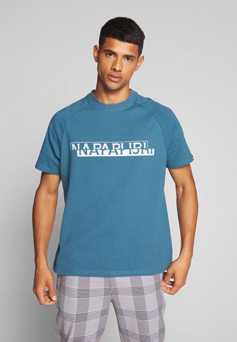 Napapijri The Tribe - SIRE  - Print T-shirt - mallard blue