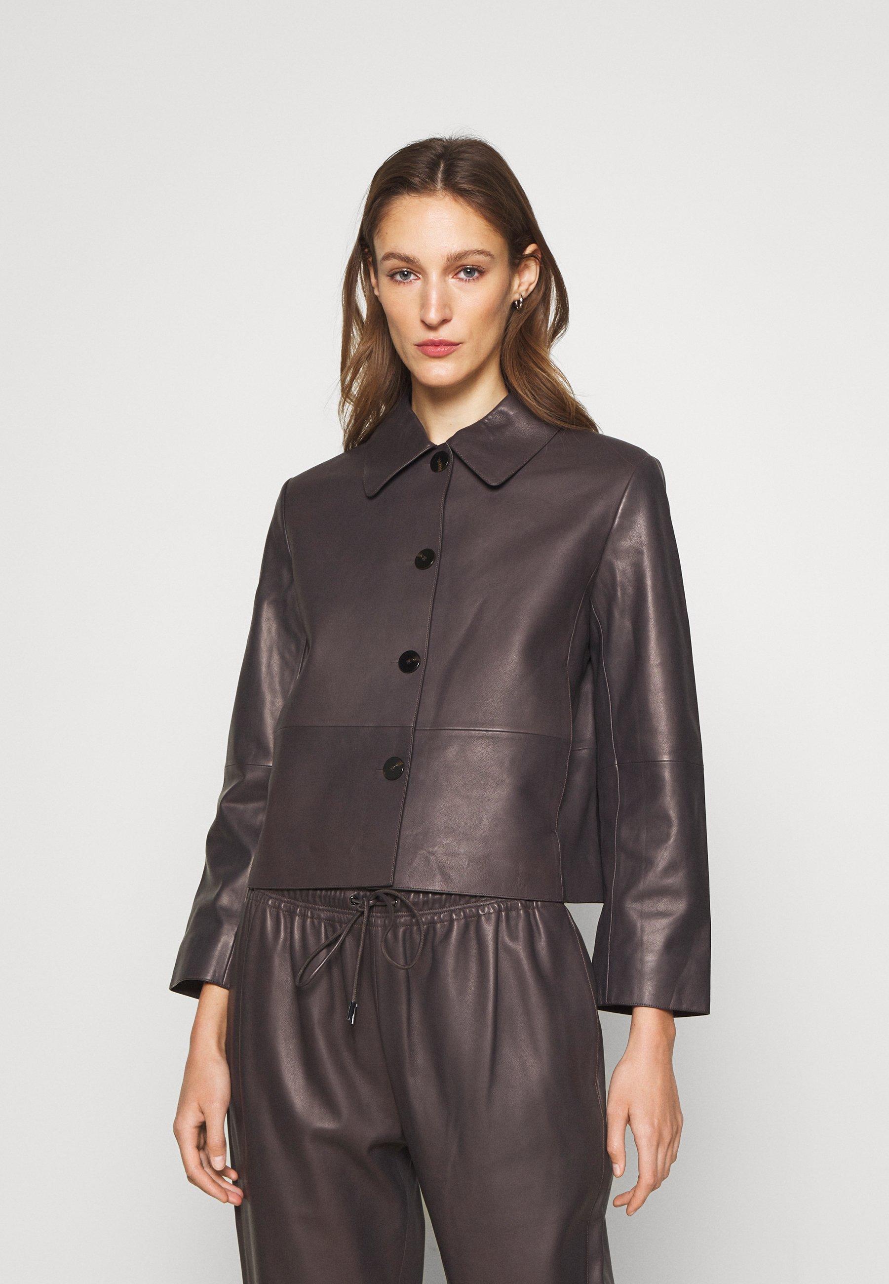 Women CROP PIAZZA POINT - Leather jacket