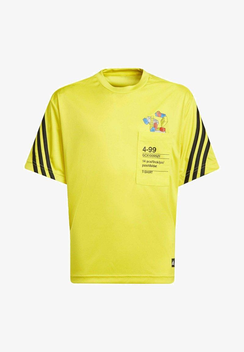 adidas Performance - T-shirt imprimé - yellow