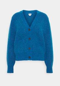 Cardigan - blue melange