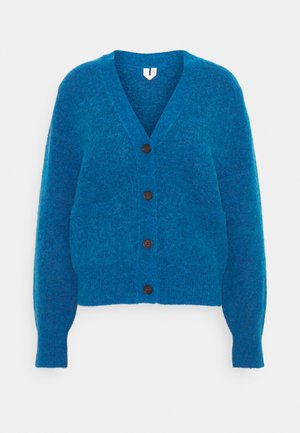 HEAVY KNIT - Cardigan - blue melange