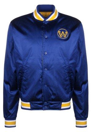 NBA GOLDEN STATE WARRIORS REVERSIBLE COURTSIDE TRAININGSJACKE HE - Sports jacket - rush blue / amarillo
