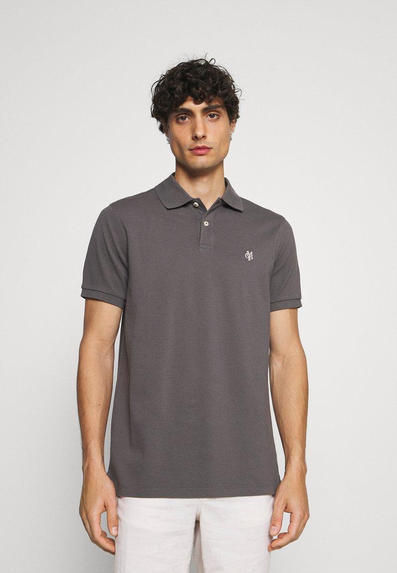 Marc O'Polo - SHORT SLEEVE BUTTON PLACKET - Polo shirt - gray