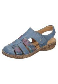 Comfortabel - Ankle strap ballet pumps - blau - 1