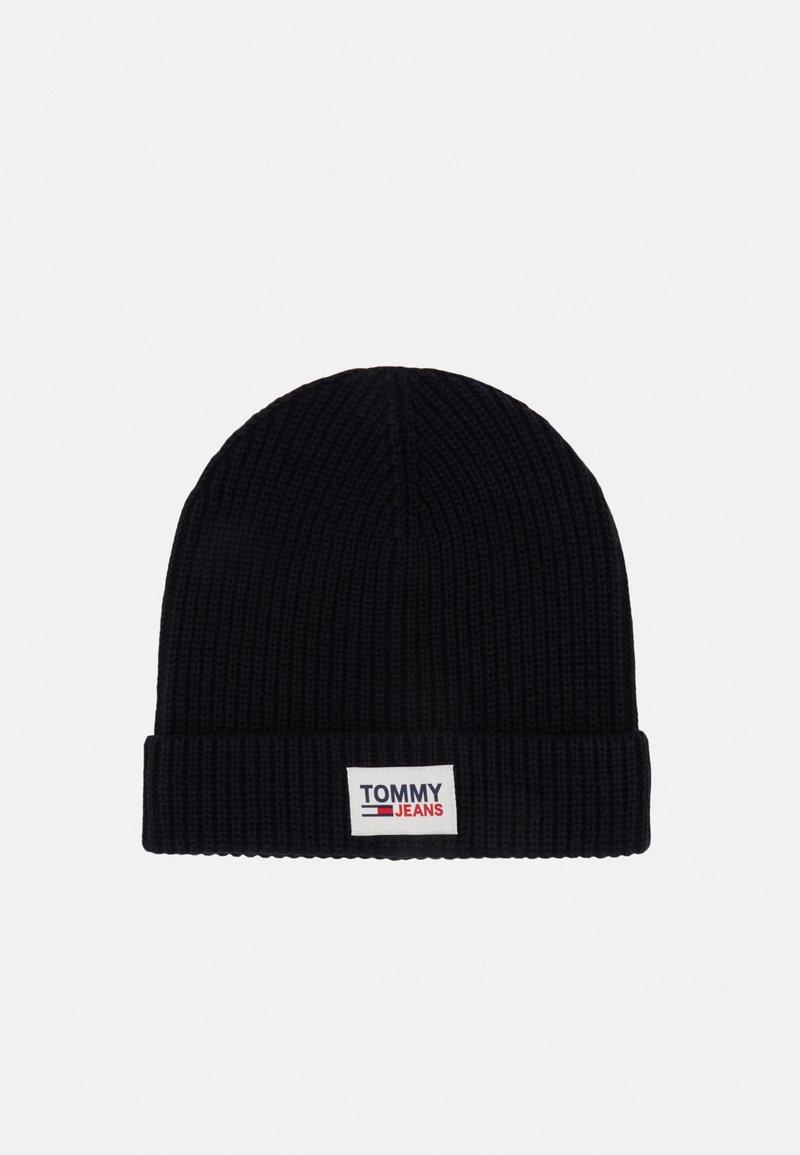 Tommy Jeans - PATCH BEANIE - Beanie - black