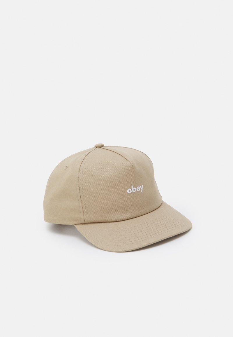 Obey Clothing - LOWERCASE SNAPBACK UNISEX - Cap - light kahaki