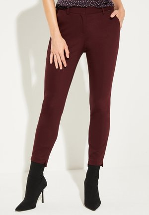 MIT DEKORATIVEN DETAILS - Trousers - bordeaux