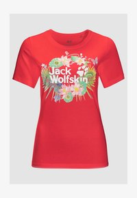 Jack Wolfskin - PARADISE - Print T-shirt - red - 2