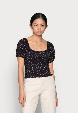 ONLFENJA LIFE TOP  - T-shirt imprimé - black/pink