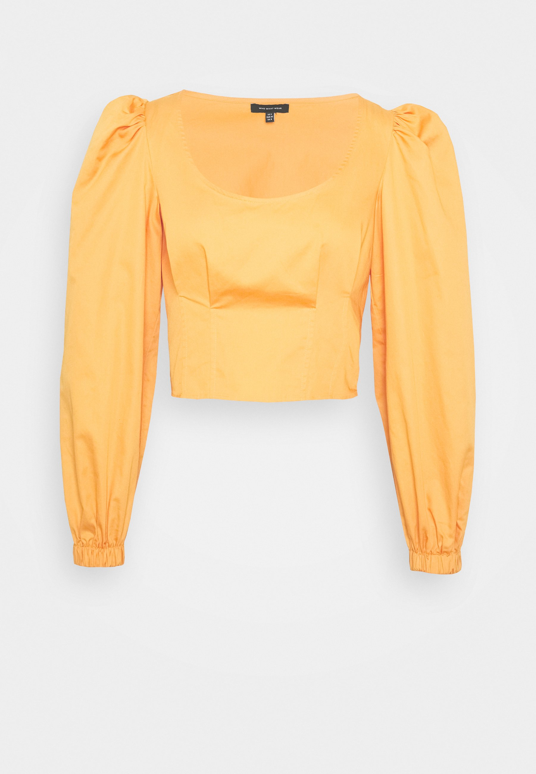 Who What Wear CROPPED LONG SLEEVE - Pusero - cantaloupe RZ9Ca