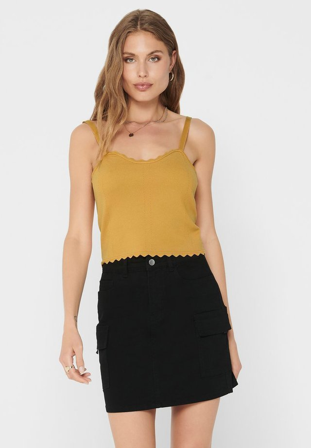 CROPPED - Top - golden spice