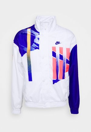 JACKET - Training jacket - white/ultramarine/solar red
