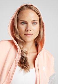 adidas Performance - ENERGIZE SPORTS SLIM TRACKSUIT - Tracksuit - glow pink/medium grey heather/white - 5