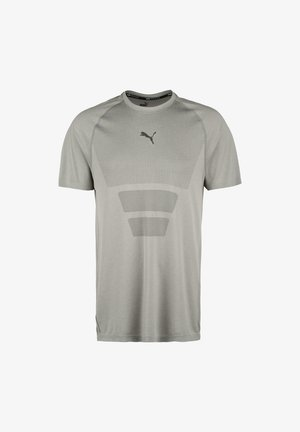 TRAIN FAV EVOKNIT TEE - Funktionsshirt - medium gray heather