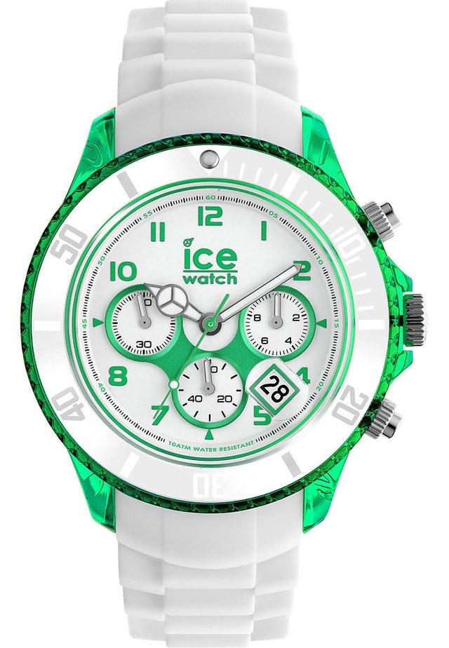 PARTY CURAÇAO BIG - Chronograph watch - weiß/grün