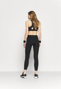 Nike Performance - ONE LUXE CROP - Collant - black/white - 2