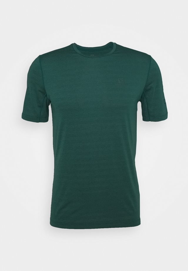 OUTLIFE LOGO - Print T-shirt - pacific heather