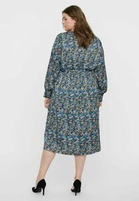 Vero Moda Curve - VMLULU CALF DRESS - Day dress - black - 2