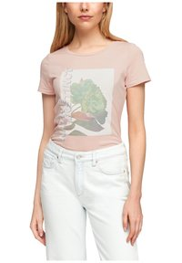 Q/S designed by - MIT FRONTMOTIV - Print T-shirt - rose - 3
