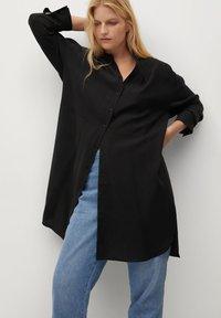 Violeta by Mango - TENCE - Button-down blouse - schwarz - 0