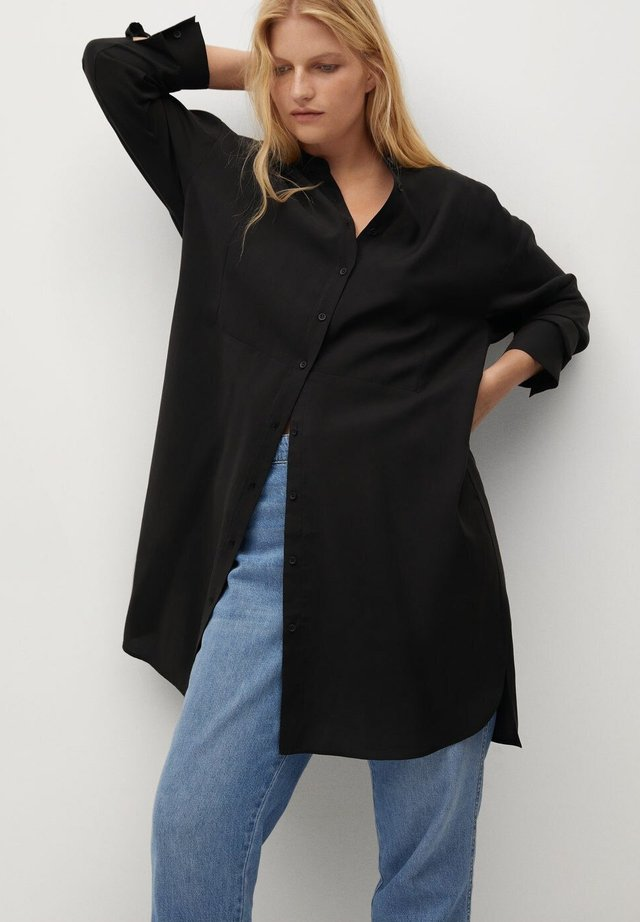 TENCE - Button-down blouse - schwarz