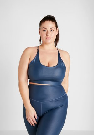CURVE WETLOOK STRAPPY BACK BRALET - Sujetador deportivo - blue