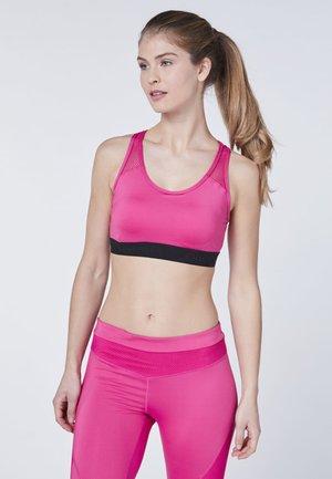 MIT MESH EINSÄTZEN - Sports bra - pink