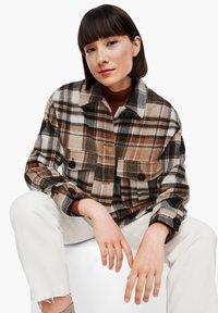 s.Oliver - Light jacket - brown check - 6