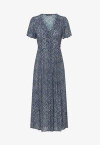 OYSHO - LONG LILAC FLORAL - Korte jurk - dark blue - 5