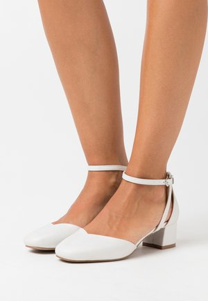 WIDE FIT WICKHAM - Tacones - white