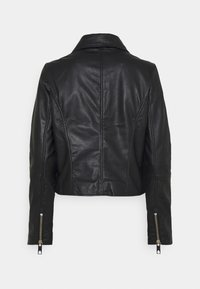 Vero Moda - VMMAPEL SHORT JACKET - Leather jacket - black - 6