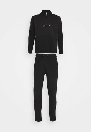 BROOKLYN FUNNEL NECK TRACKSUIT SET - Tracksuit - black