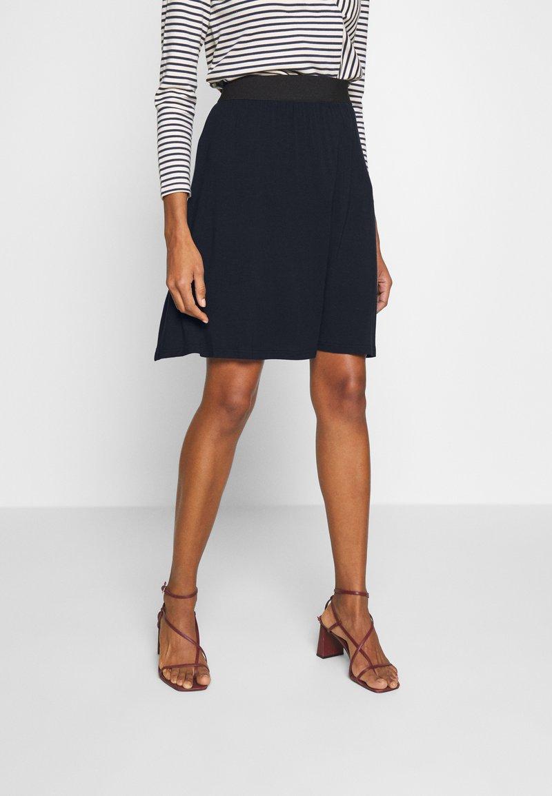 Kaffe - KAWILLE SKIRT - A-line skirt - midnight marine