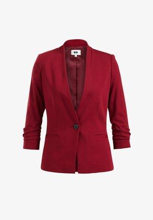 GETAILLEERDE STRETCH  - Blazer - burgundy red