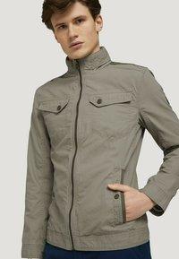 TOM TAILOR - BIKER - Light jacket - coastal fog beige - 4