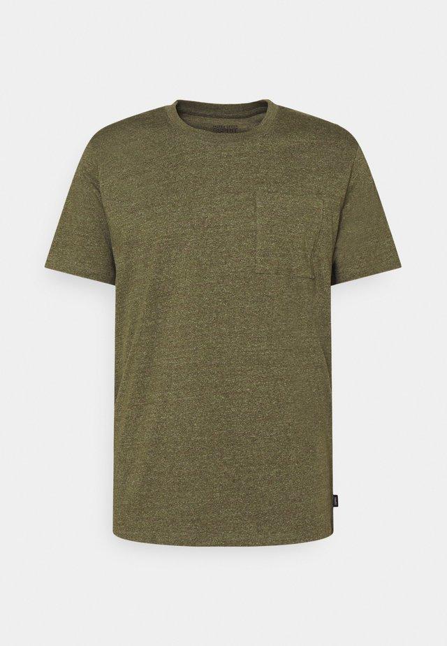 T-shirt basic - dark khaki